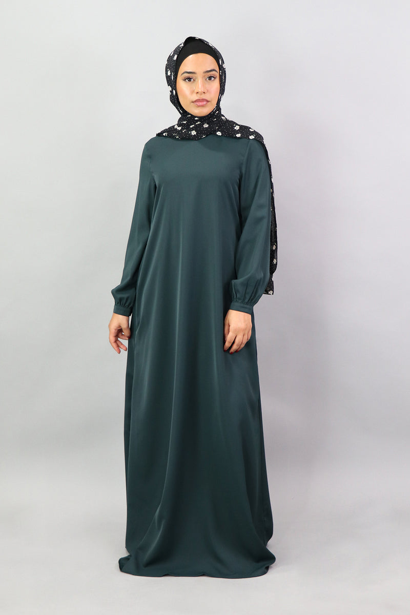 Jade Green Deluxe Soft Maxi Dress (5305869959336)