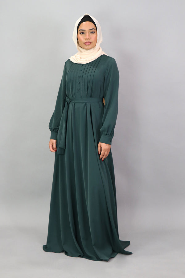 Emerald Deluxe Soft Pleated Maxi Abaya (5305904988328)