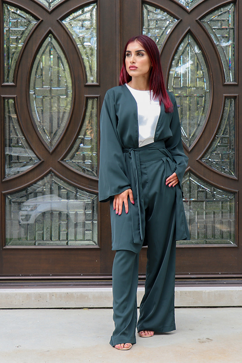 Deluxe Soft Wide Sleeve Cardigan- Jade Green