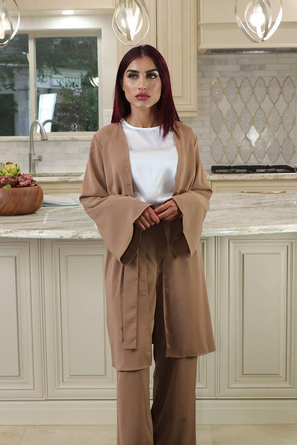 Deluxe Soft Wide Sleeve Cardigan- Camel