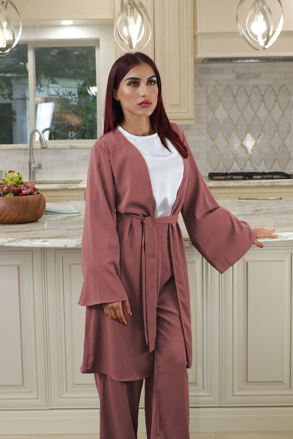 Deluxe Soft Wide Sleeve Cardigan- Burnt Sienna