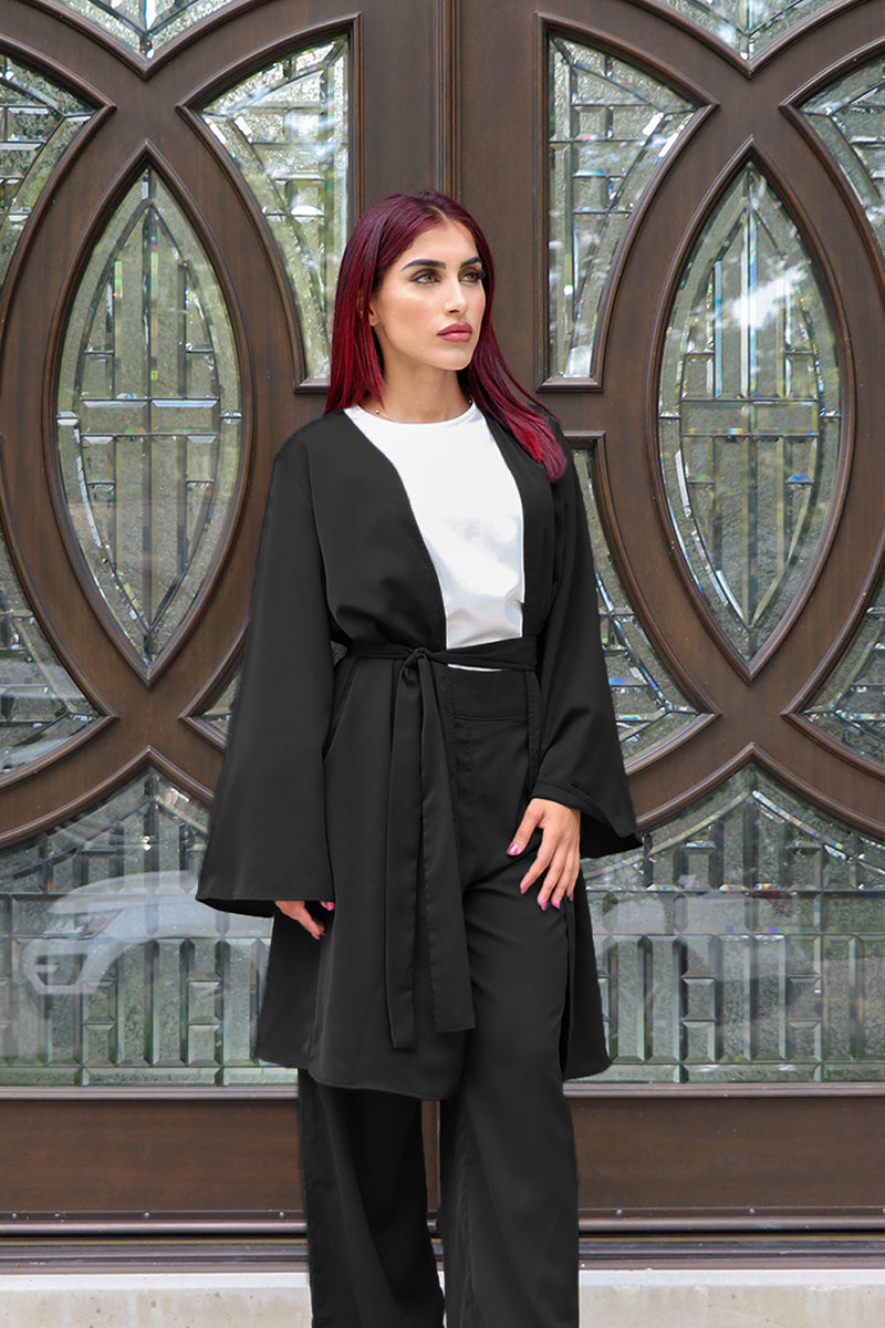Deluxe Soft Wide Sleeve Cardigan- Black