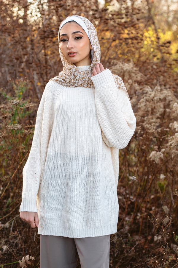 Midi Knit Sweater - Ivory