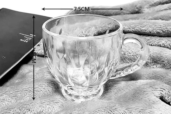 6 PC Tea/Coffee glass cups (4608138444857)