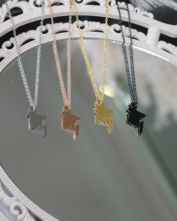Birthplace Map Necklace- Bangladesh