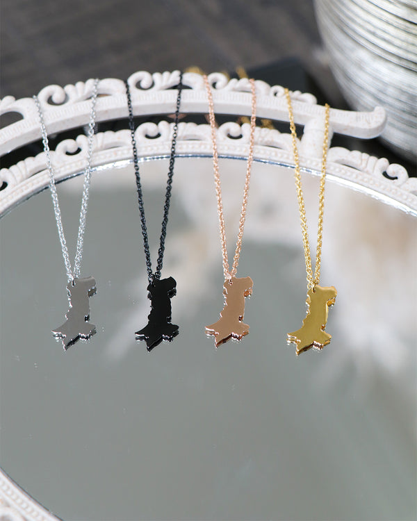 Birthplace Map Necklace- Pakistan