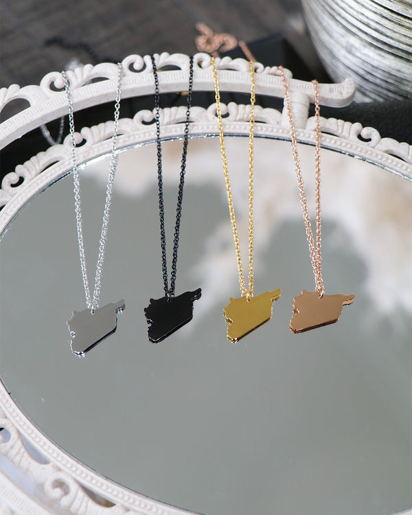 Birthplace Map Necklace- Syria