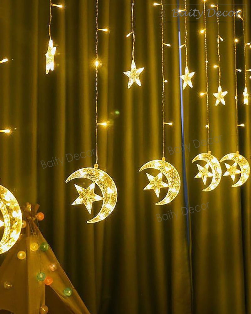 Moon Star Curtain Lights (4608164495417)
