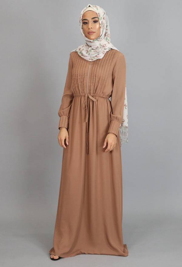 Tortilla Pleated Chiffon Button Maxi Dress (2172932161593)