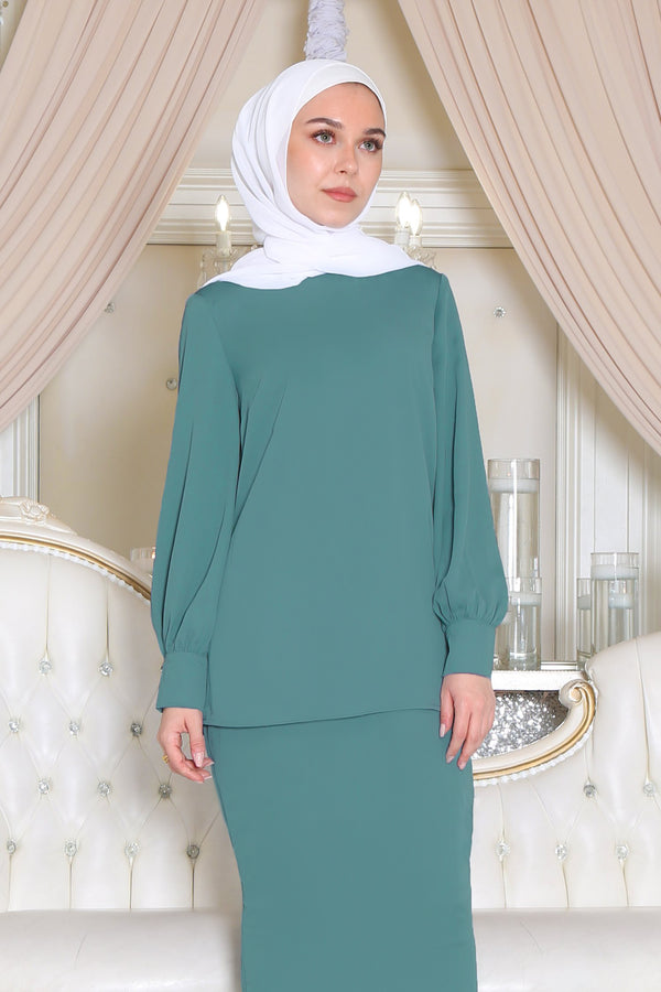 Premium Chiffon Blouse - Mint Blue