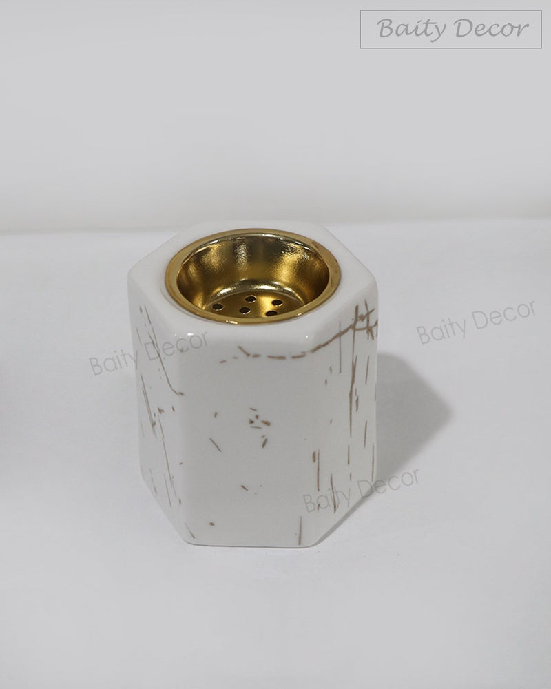 White Ceramic Bakhoor Burner (4610112979001)