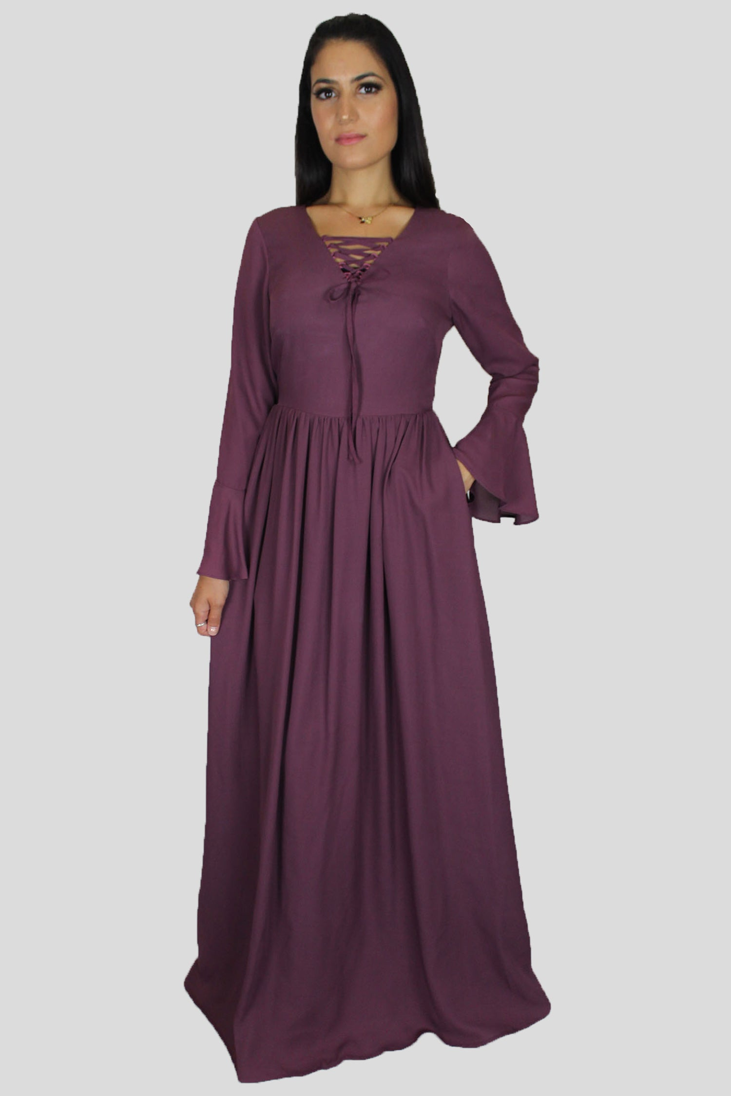 ae7ae13666 Dark Purple Chiffon Maxi Skirt