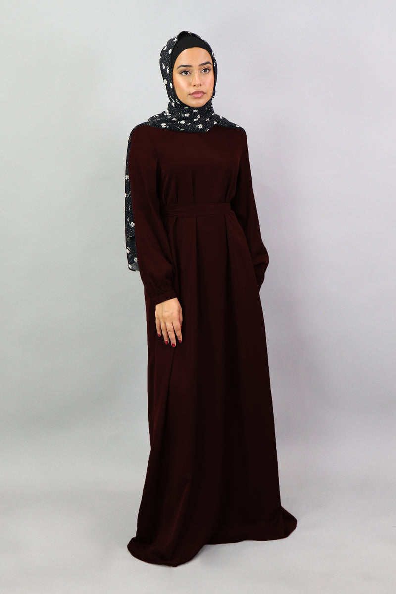 Mahogany Deluxe Soft Maxi Dress (5306286178472)