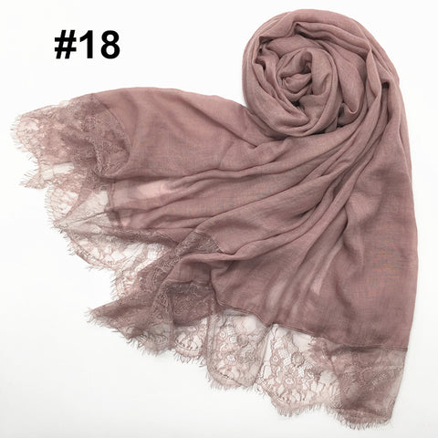 White Floral Chiffon Bubble Scarf