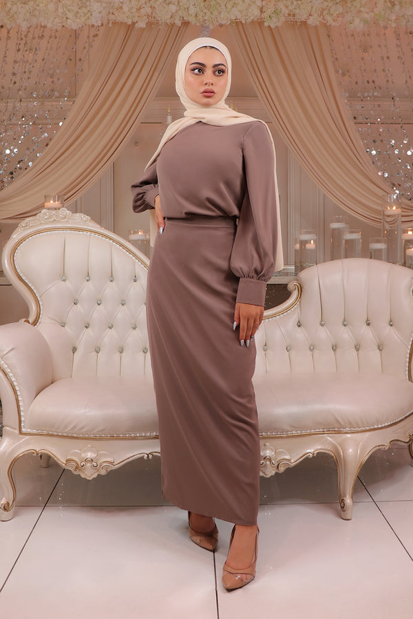 Luxe Soft Maxi Skirt - Mink