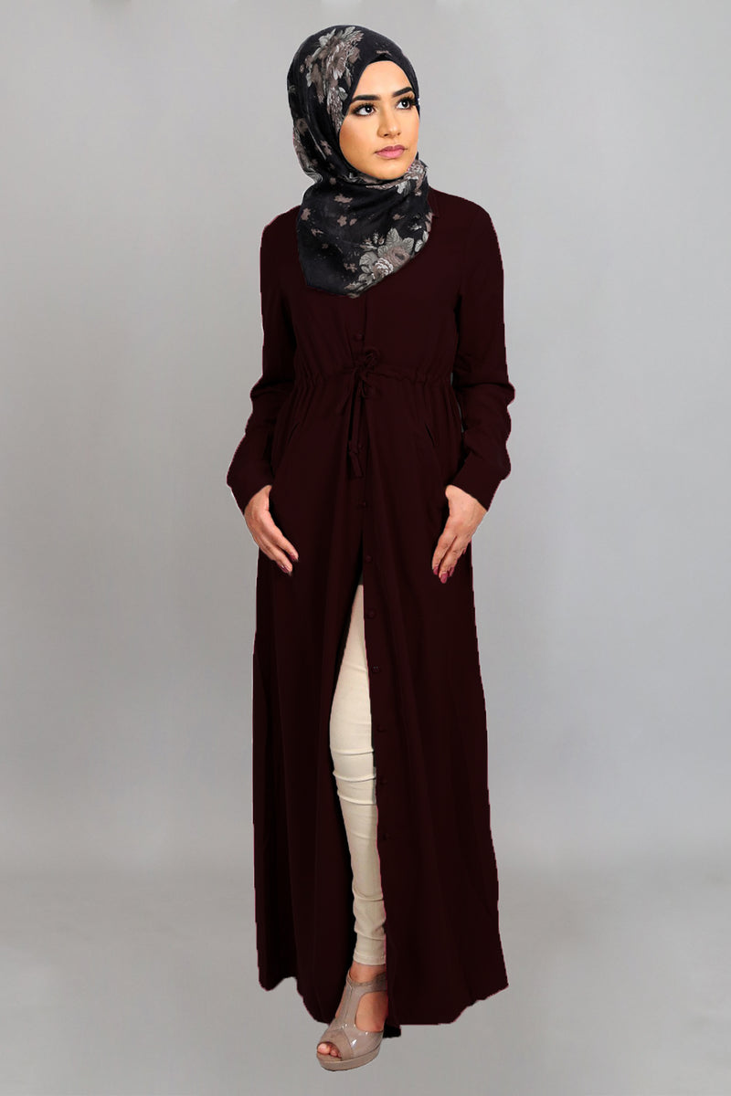 Mahogany Soft Buttoned-Down Maxi Dress (4644845223993)
