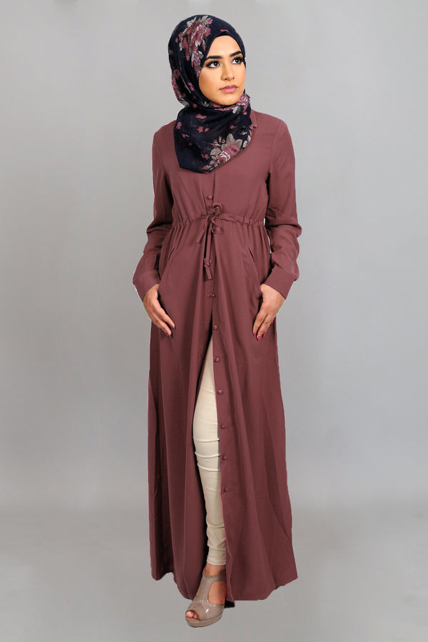 Rose Pink Soft Buttoned-Down Maxi Dress (4644857937977)