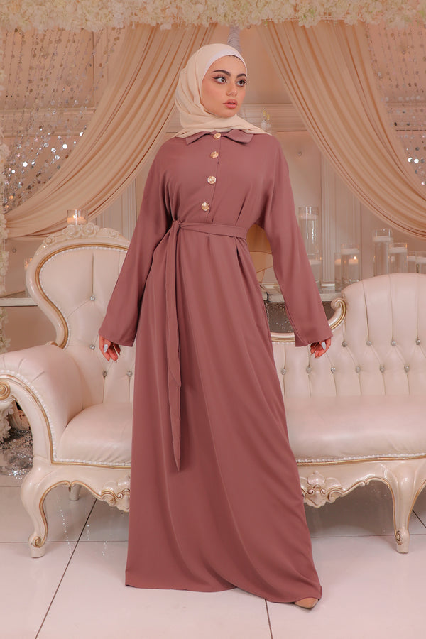 Deluxe Soft Batwing Dress- Nude Pink
