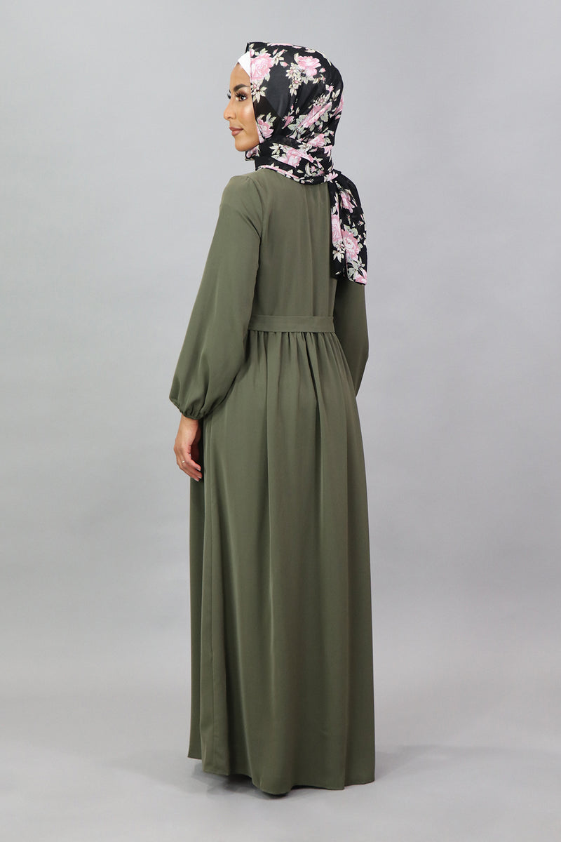 Army Green Deluxe Soft Pocket Dress