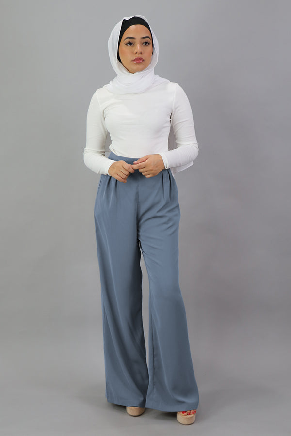 Deluxe Soft Pants - Dusty Blue