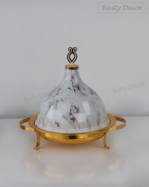 White Marble Style Serving Pot (4608125435961)