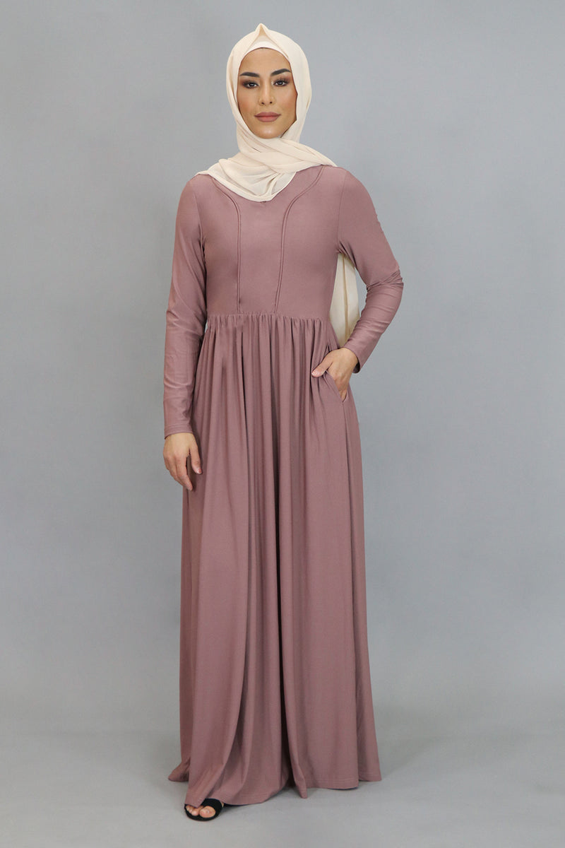 Nude Pink Spandex Outline Maxi Dress (4542274240569)