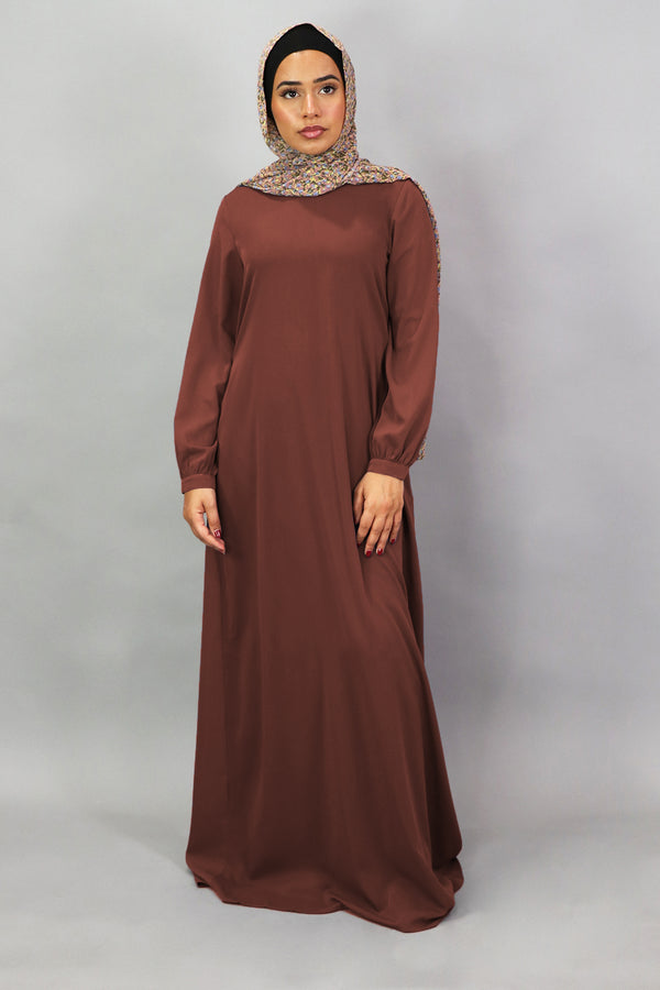 Burnt Sienna Deluxe Soft Maxi Dress (5305892012200)