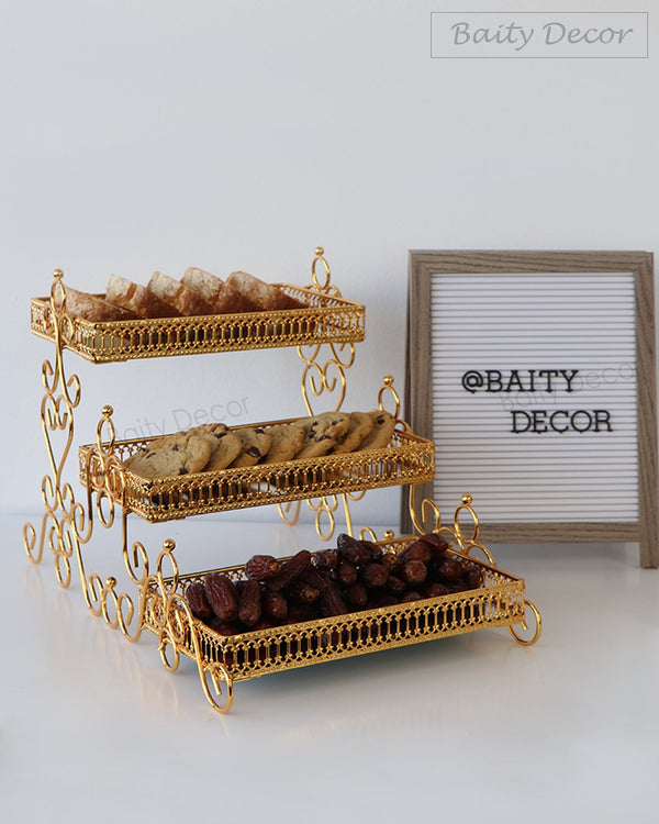 3 Tier Mirror Serving Trays Stand (4608184221753)