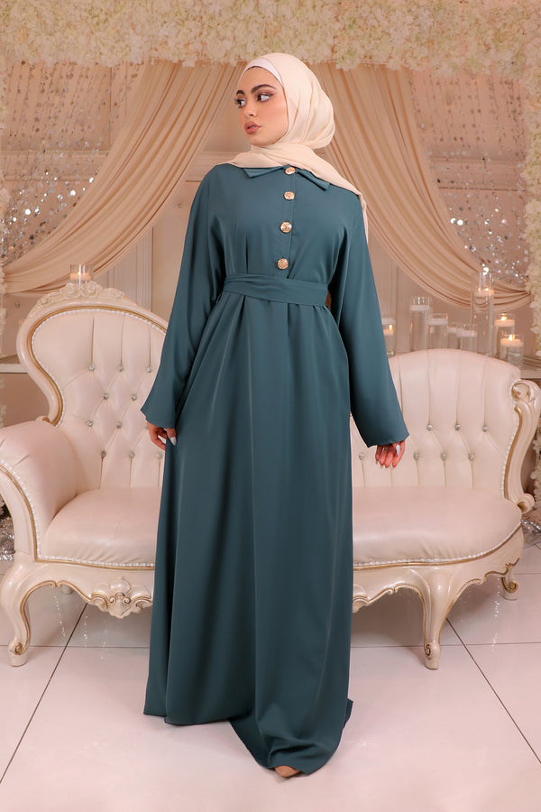 Deluxe Soft Batwing Dress- Teal