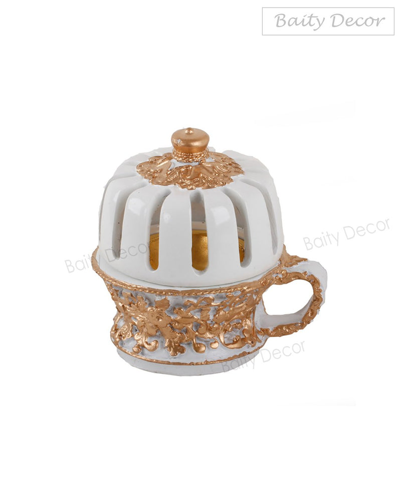 Elegant White and Gold Bakhoor Burner (4608048431161)