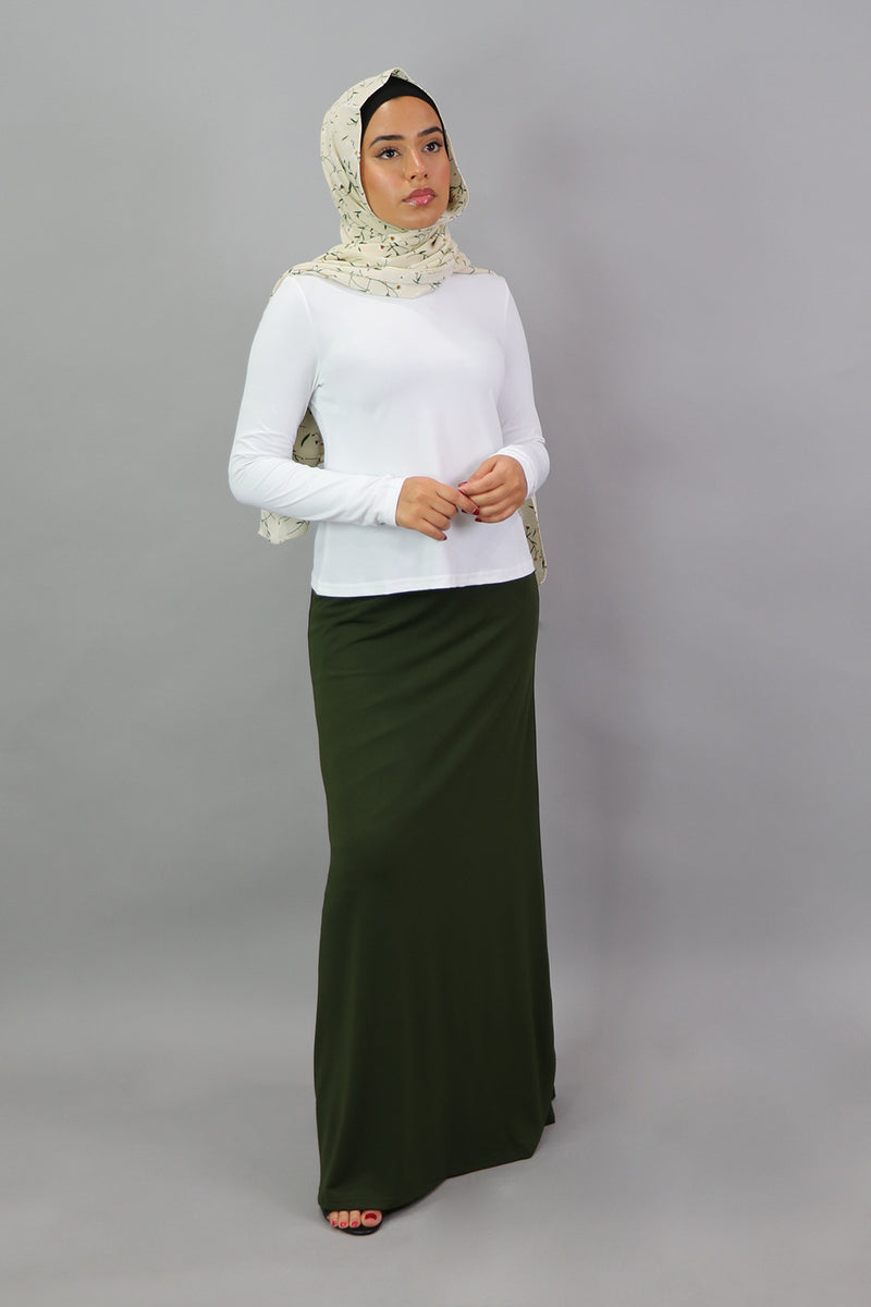 White Long Sleeve Top (4549430411321)