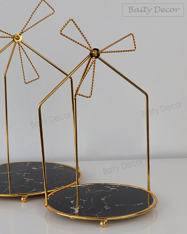 2 Gold Decorative Stands (4608155189305)