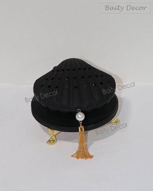 Black Pearl Shell Bakhoor Burner (4608387547193)