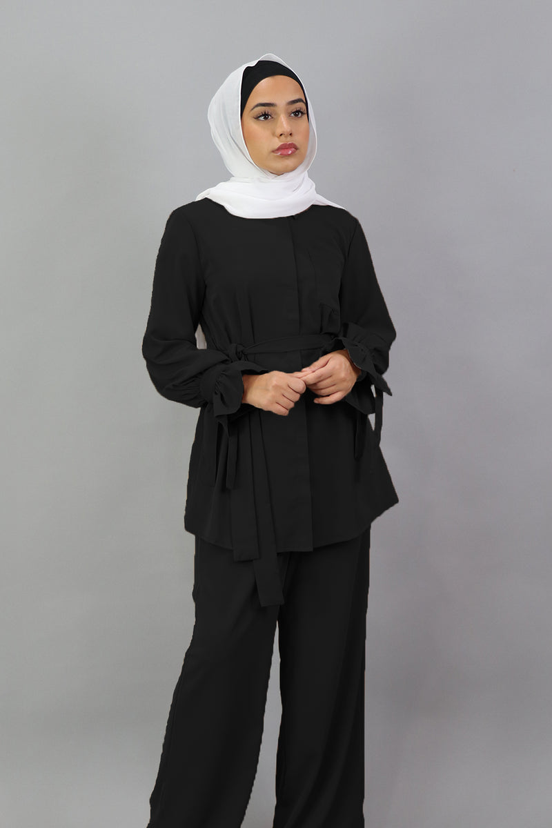 Deluxe Soft Blouse Top - Black