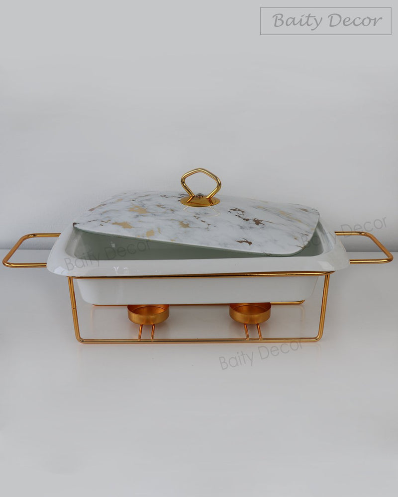 White Marble Ceramic Buffet Pot (4608048365625)