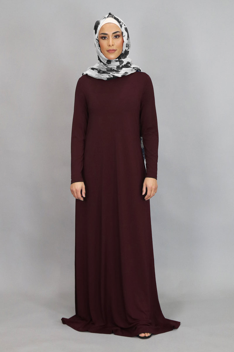 Mahogany Spandex Hooded Maxi Dress