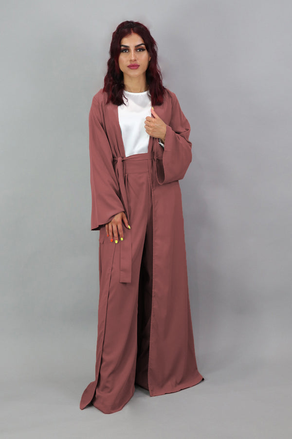 Deluxe Soft Longline Cardigan- Burnt Sienna
