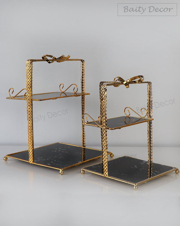 2 Black and Gold Stands (4608109609017)