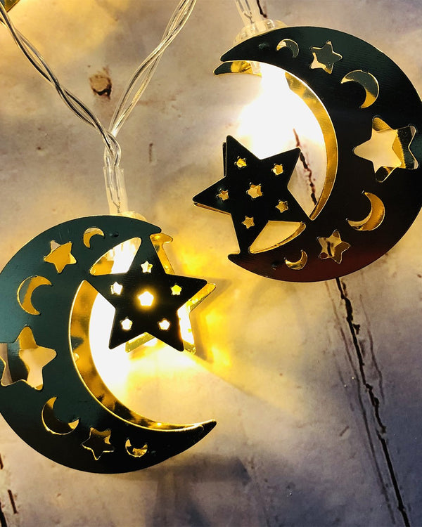 Moon & Star Design String Lights