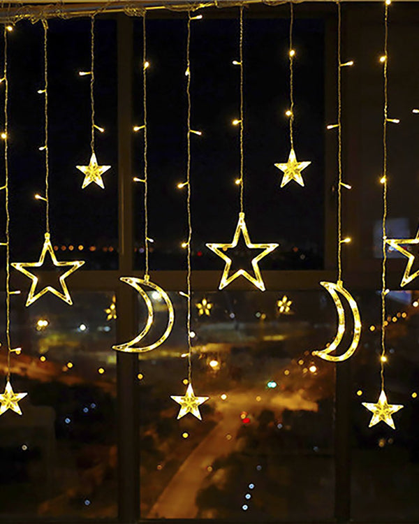 Moon & Star Curtain Lights