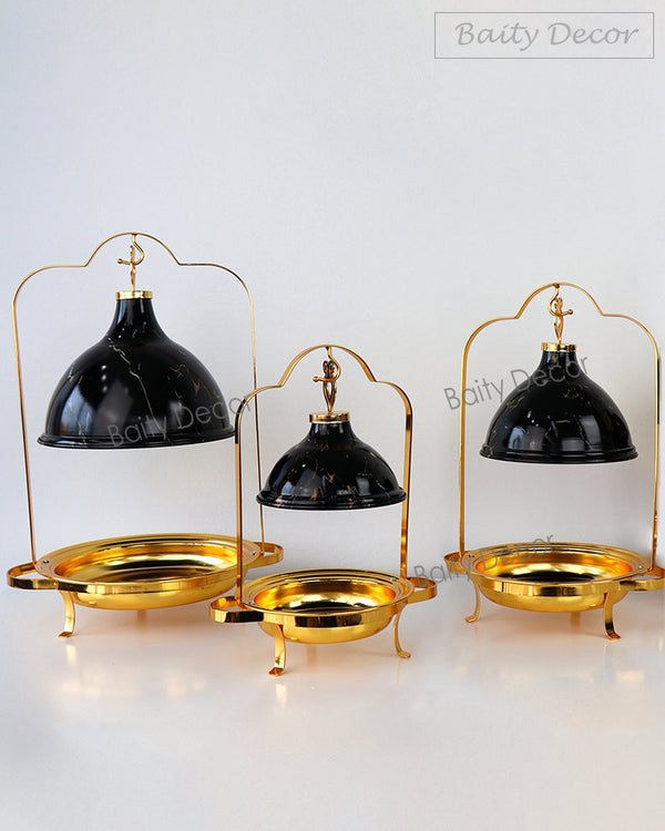 Black and Gold Buffet Pot Stand (4608123764793)