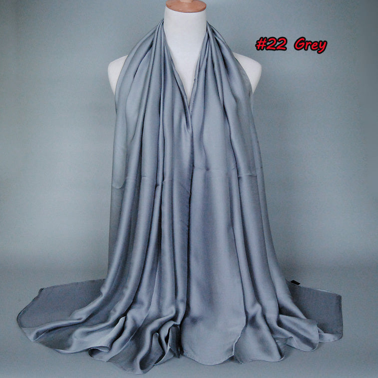 Grey Silk Scarf (1488413294649)
