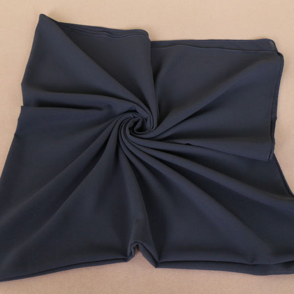 Blue Gray Square Chiffon Bubble Scarf