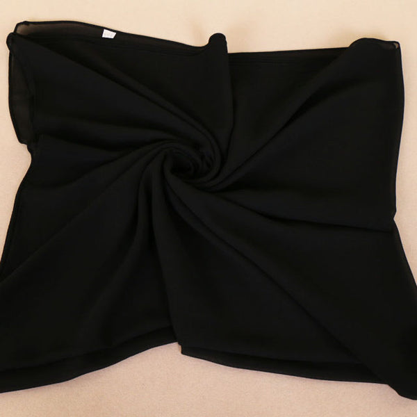 Black Square Chiffon Bubble Scarf (4636963504185)