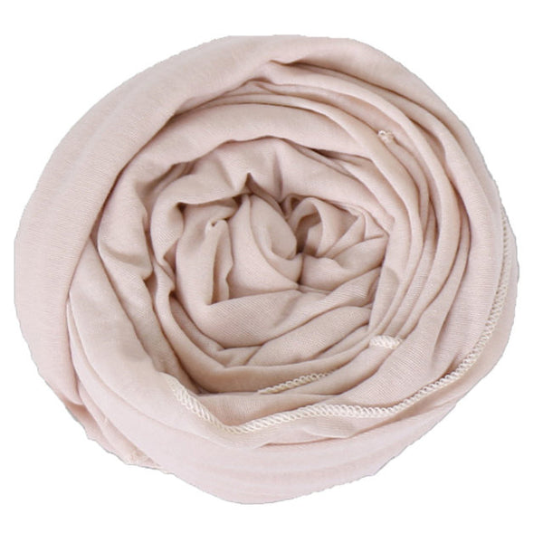 Cream Cotton Jersey Scarf (175475326990)