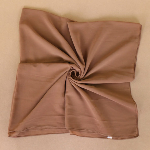 Tan Square Chiffon Bubble Scarf