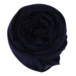 Navy Blue Cotton Jersey Scarf (4624119529529)