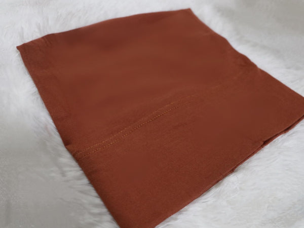 Burnt sienna Cotton Undercap