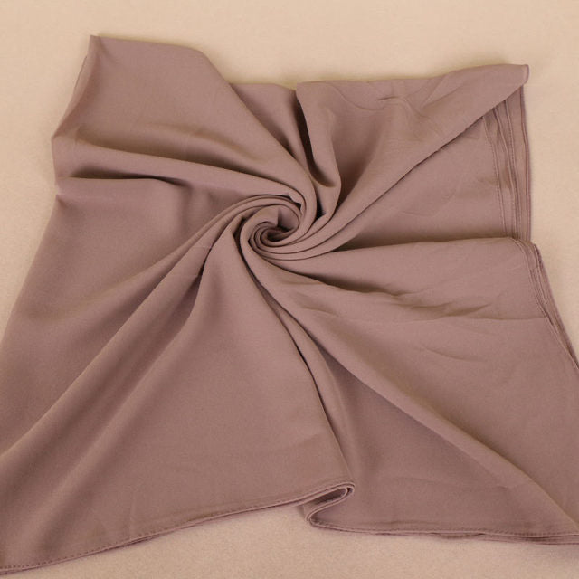 Nude Square Chiffon Bubble Scarf (4636936372281)