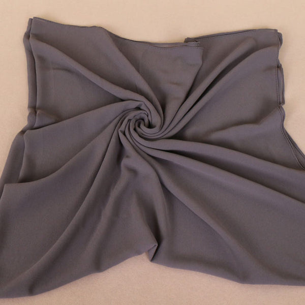 Dark Gray Square Chiffon Bubble Scarf